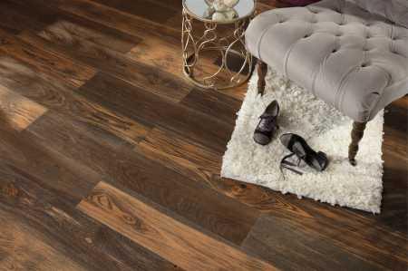 Impregnated acrylic hardwood flooring